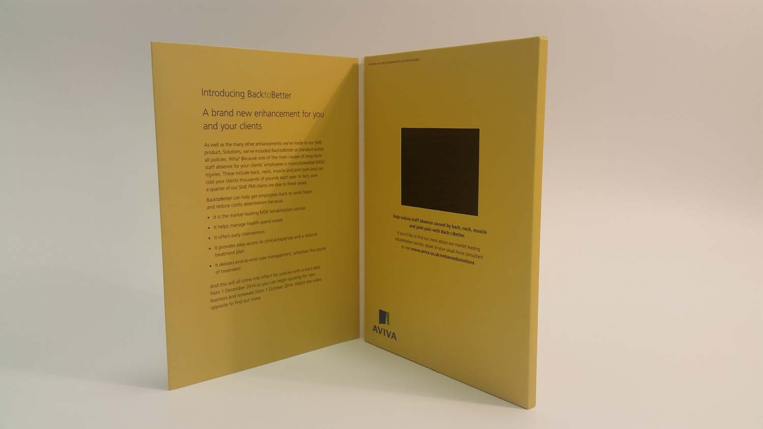 A5 Video Brochure 3.5 inch
