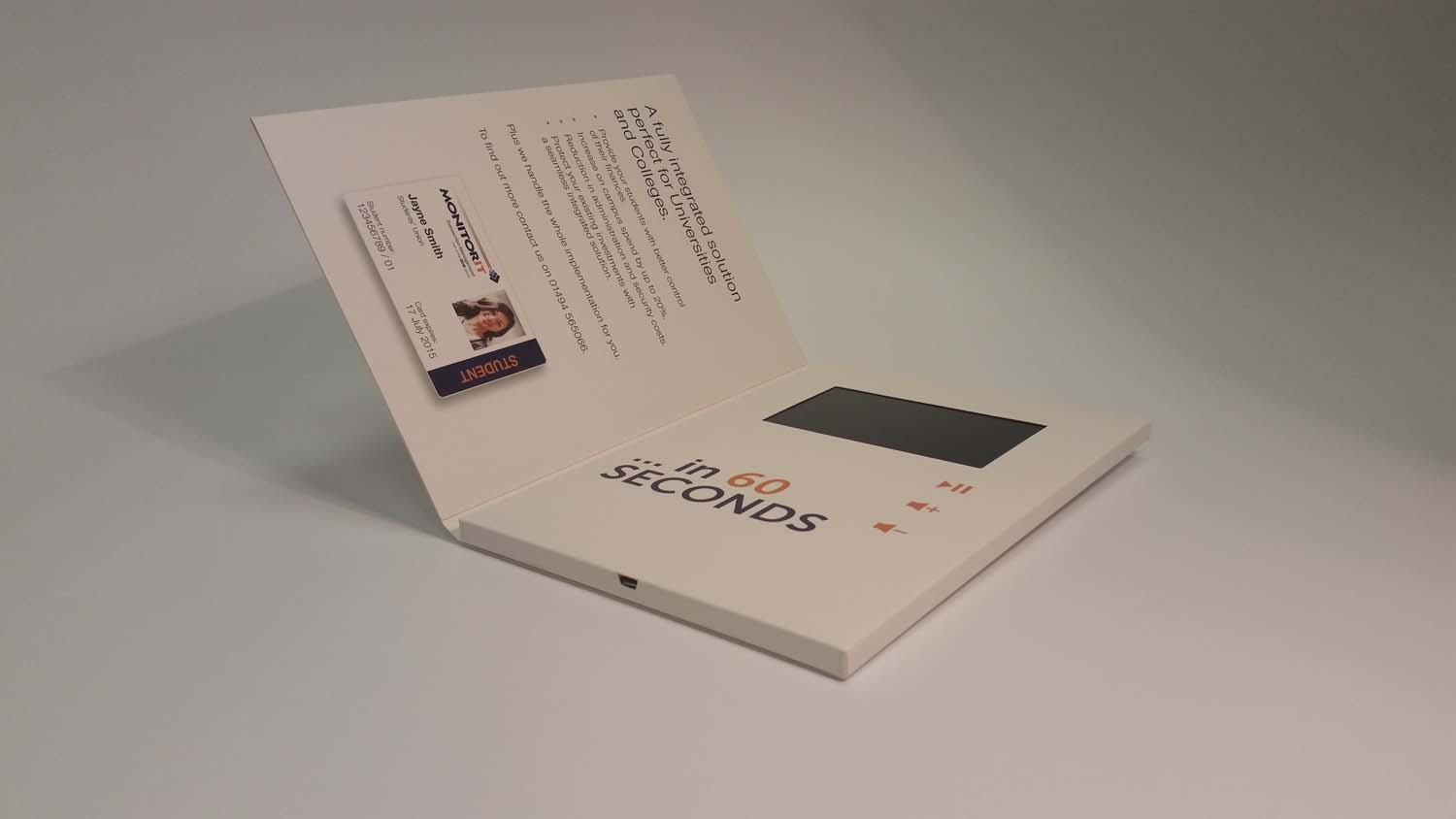 A5 Video Brochure 4.3 inch portrait